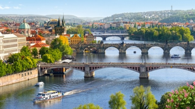 Cruise on the Vltava river